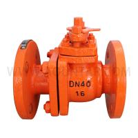 碳钢法兰衬氟球阀Q41F46-10C DN15-100(购买前先询价)